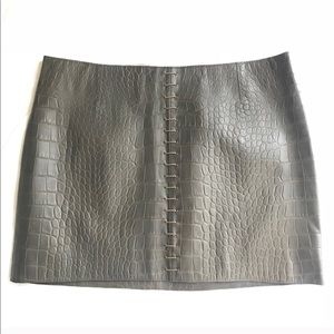 NWT Alexander Wang Crocodile Skirt 8